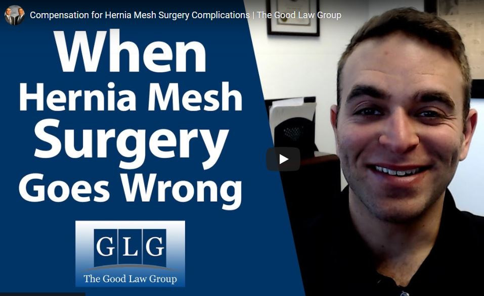 hernia mesh complications video